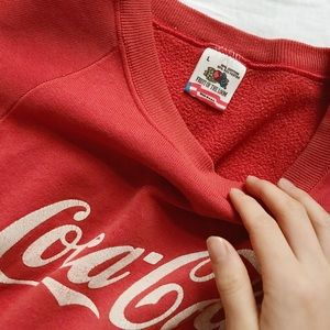 Vintage Sweaters - FINAL FLASH- The 80s Coca Cola Pullover